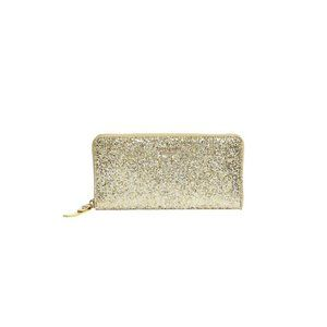 Kate Spade Gold Glitter Bug Lacey Wallet